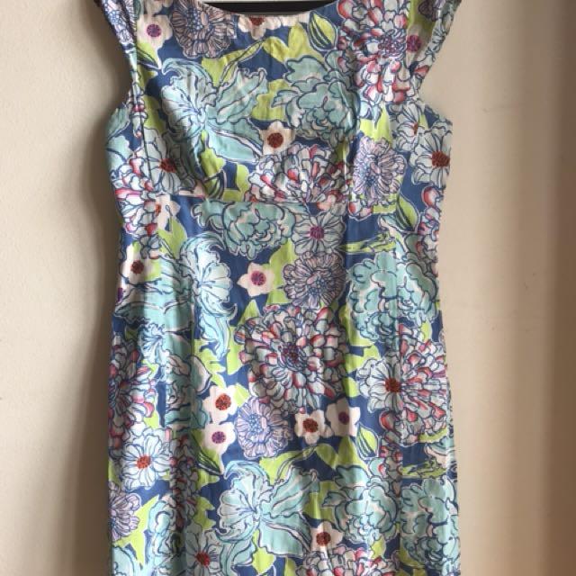 Dress blue colorfull