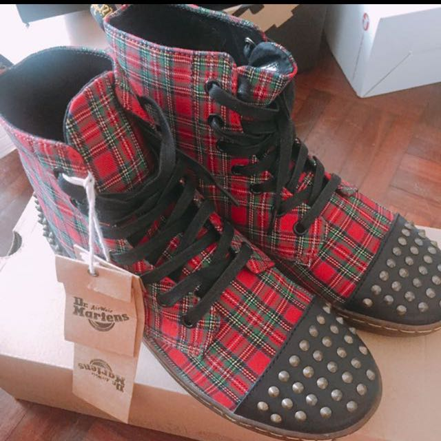 Dr.martens 紅格馬靴