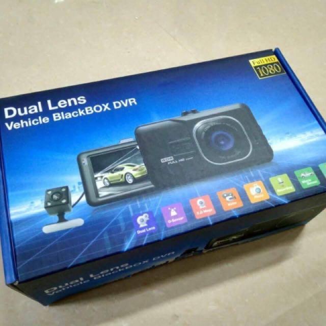 Dual lens vehicle blackbox DV