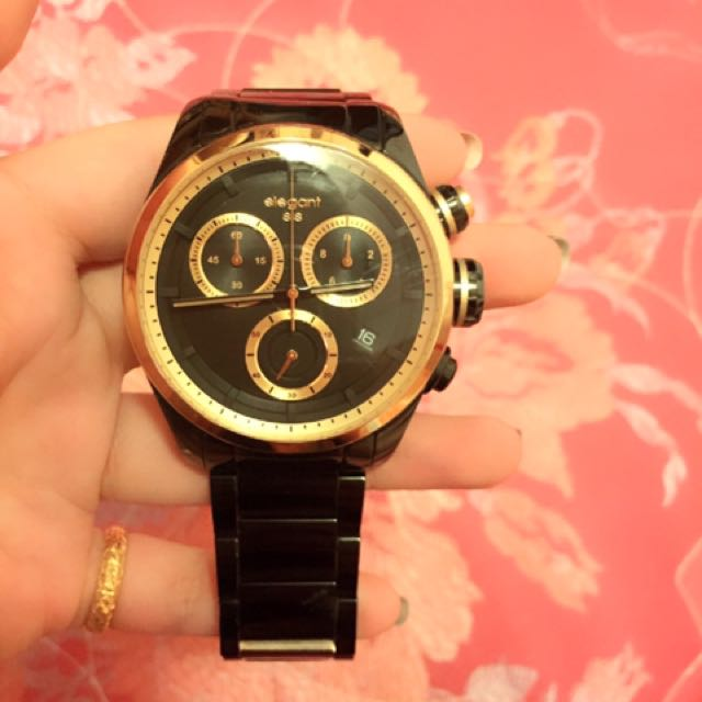 elegantsis 三眼錶 機械錶