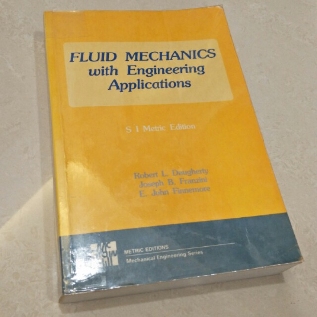 Fluid Mechanics with Engineering Applications, Books