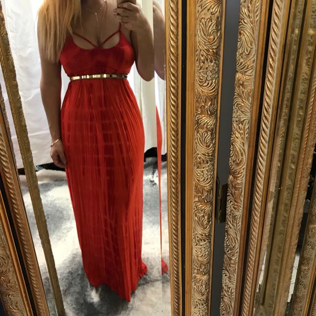 Forever new red tie dye maxi dress - size 10 - new with tags