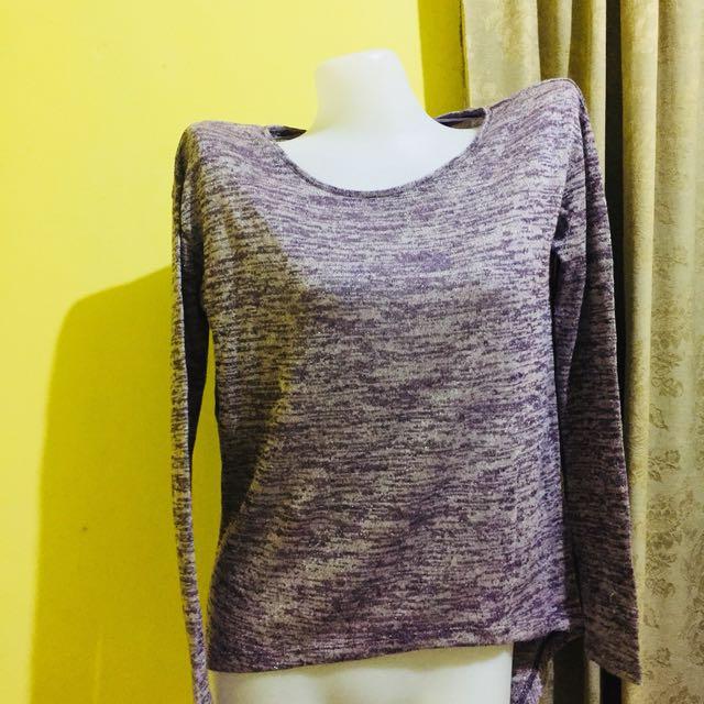 Glitter-purple long sleeves