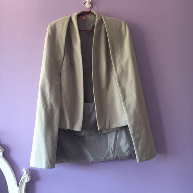 Grey Cape Coat
