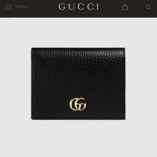 Gucci 正品 短夾 皮夾 中夾 零錢包 真皮 牛皮 證件夾 新款