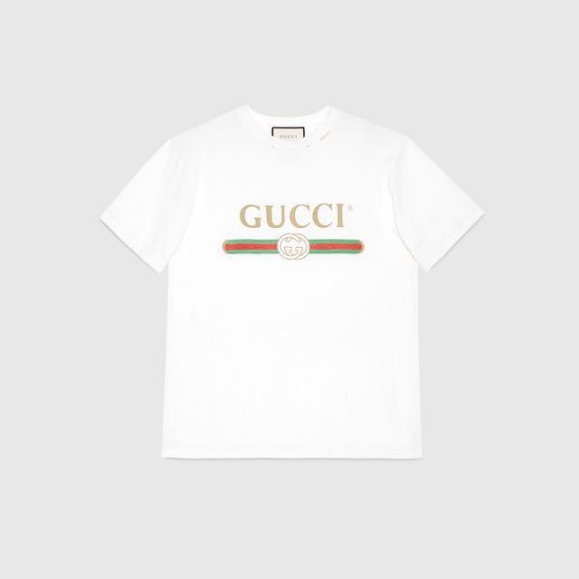 9a842a5f37b3c Gucci Logo Cotton T-Shirt (M)