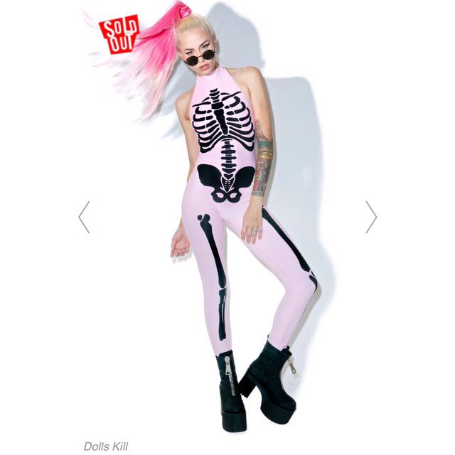 Halloween Skeleton Jumpsuit DOLLSKILL