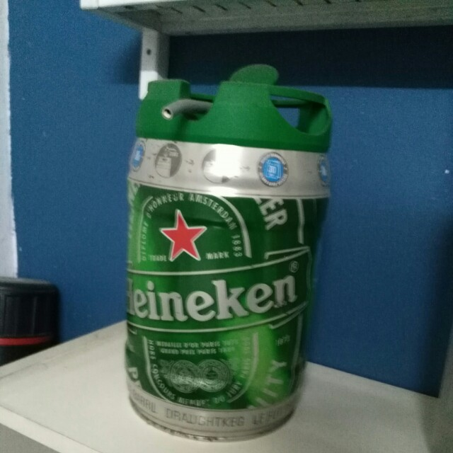 Heineken empty barrel