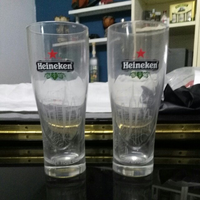 Heineken shape your city glasses