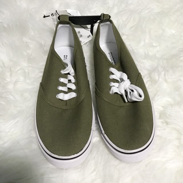 H&M Olive Green Sneakers EU 38 US 7