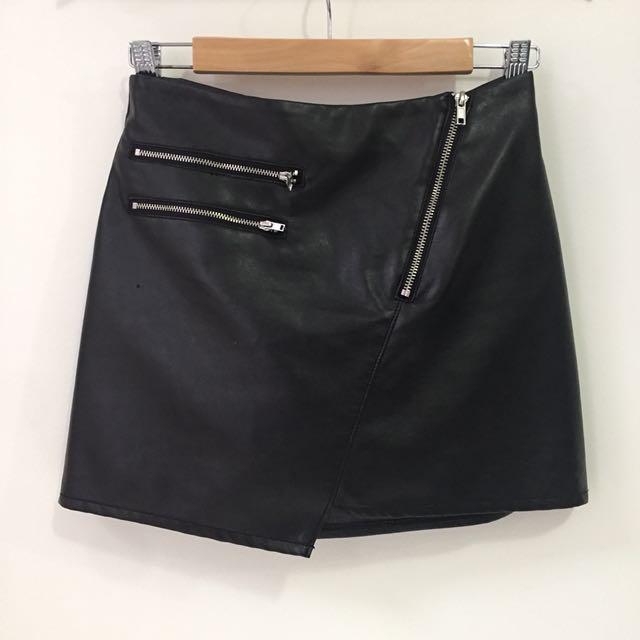 H&M Pleather Mini Skirt