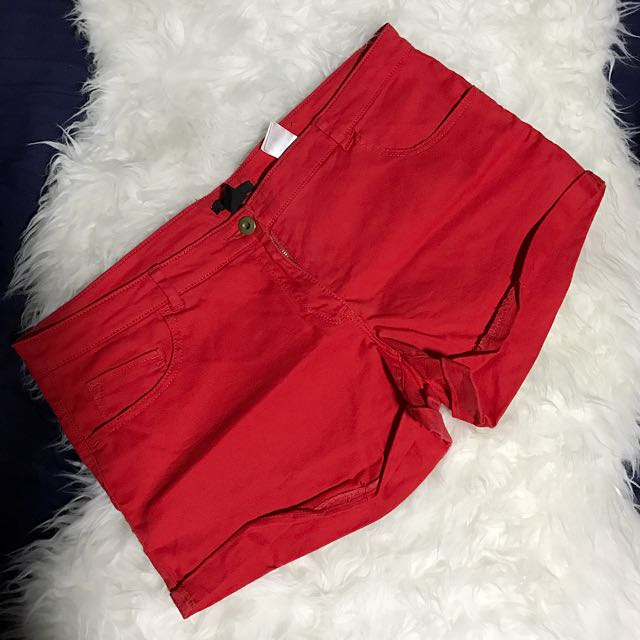 H&M Red Denim Shorts