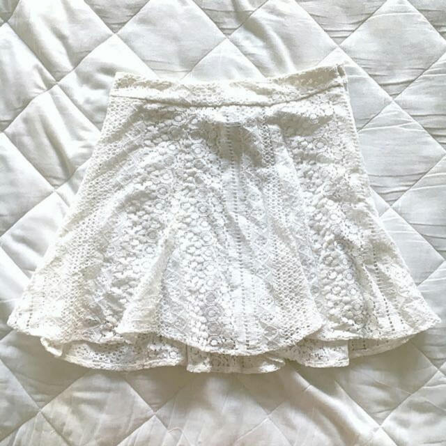 H&M White Crochet skirt