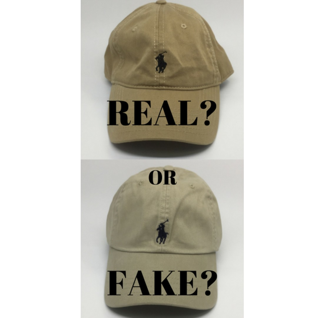 6f2d75da How to spot fake Polo Ralph Lauren caps, Women's Fashion, Accessories on  Carousell