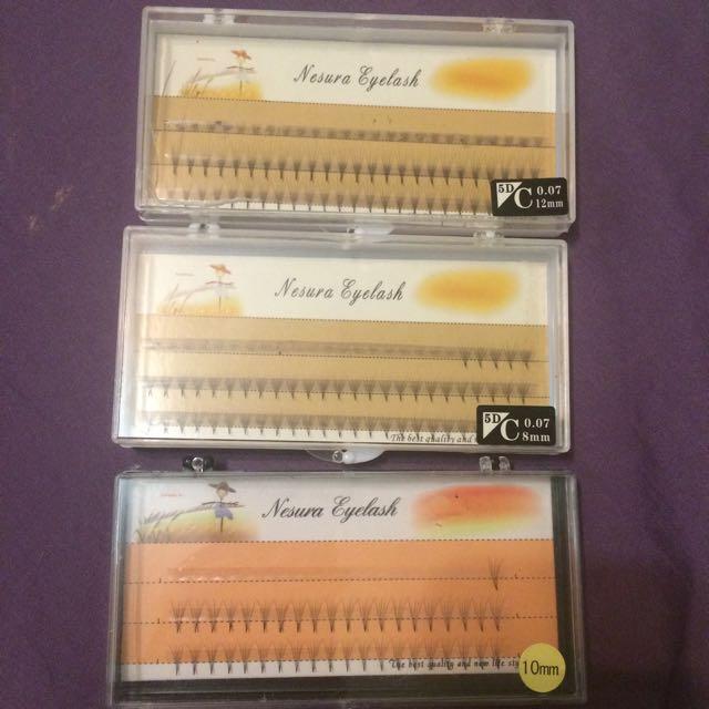 Individual lash sets