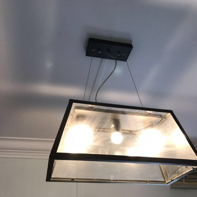 Industrial theme ceiling lights