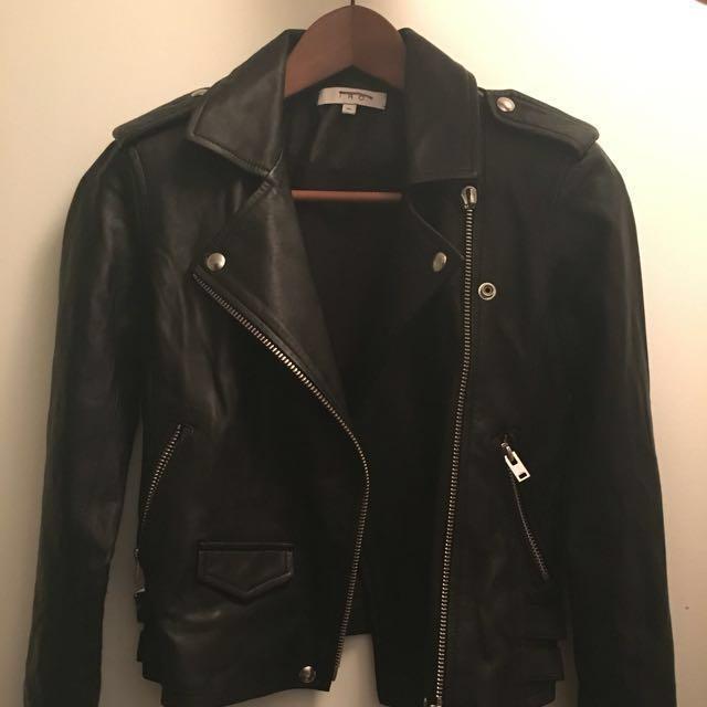 """IRO  Leather Jacket """"Ashville"""", size 36/16W"""