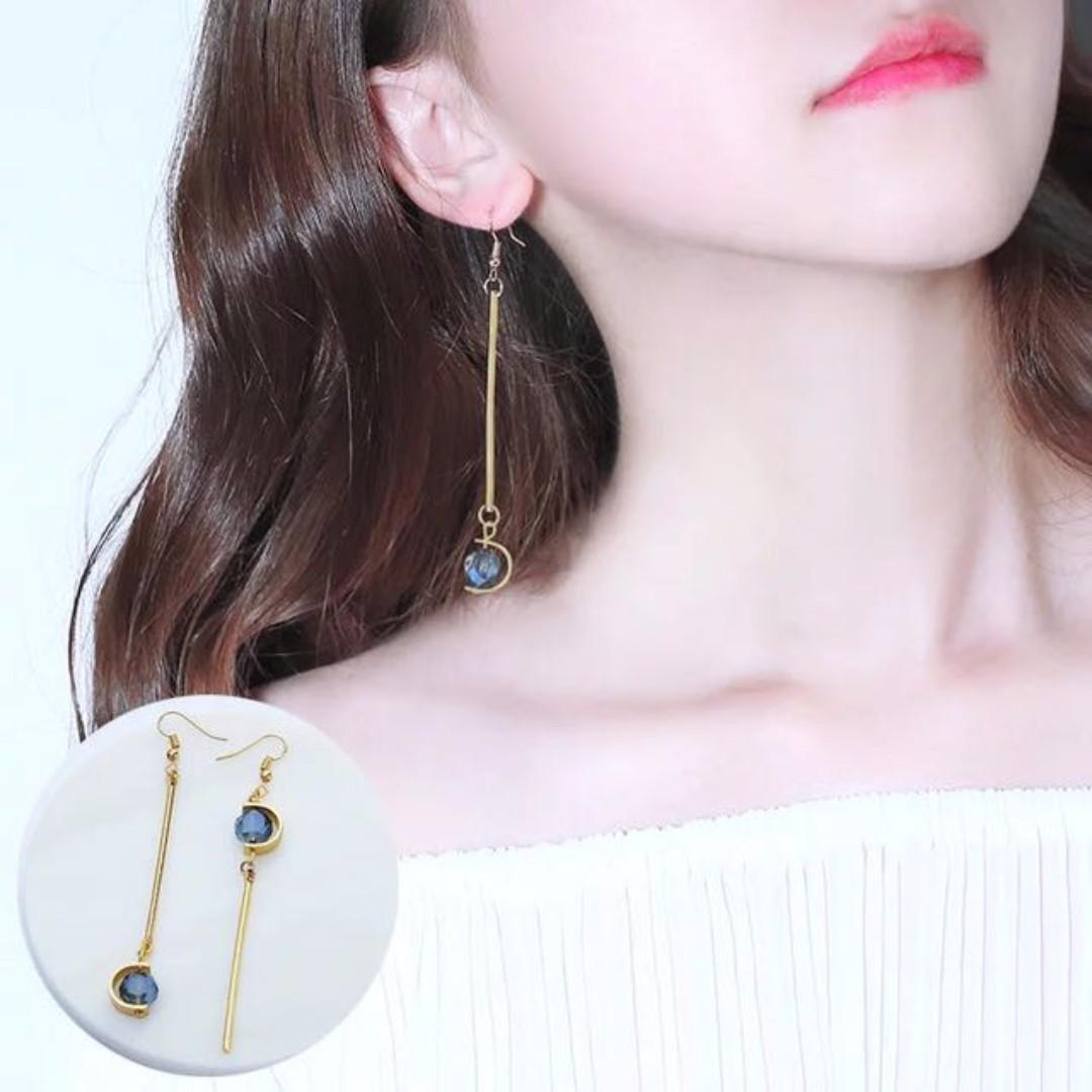 Korean Earring Golden Earth