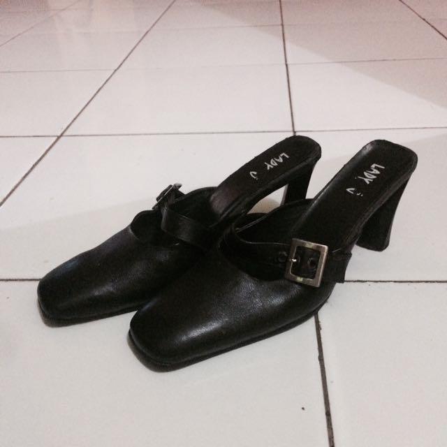 Lady J black heels