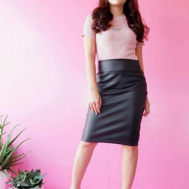 Leather skirt s-m