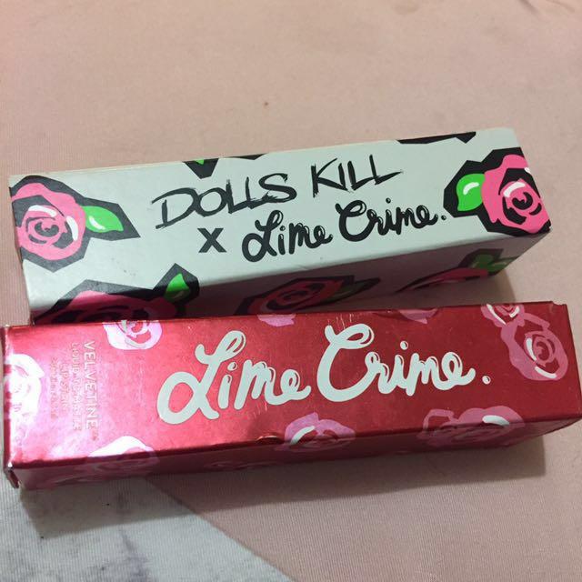 Lime crime lip glosses authentic