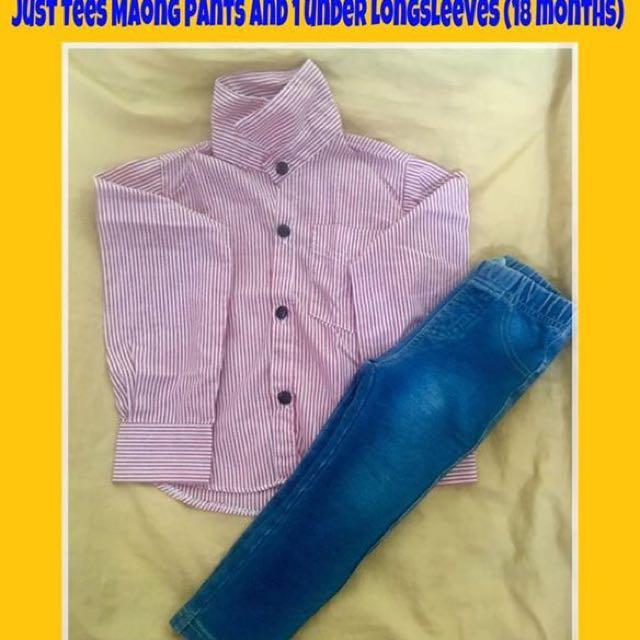 Long sleeves and maong pants