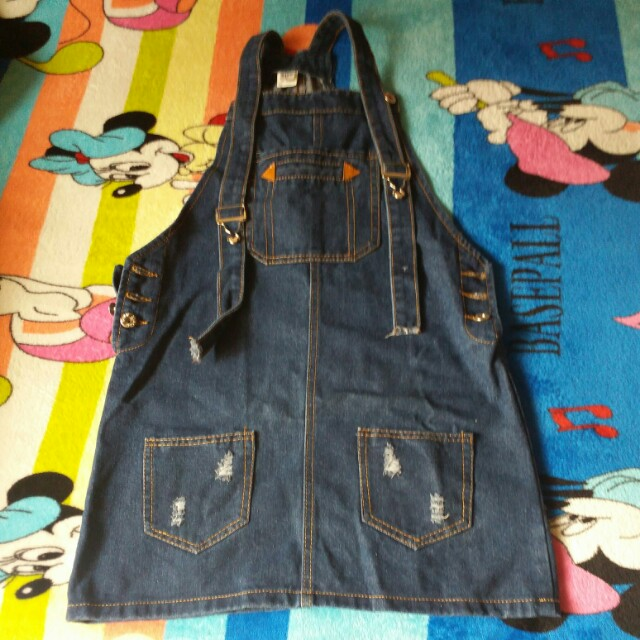 Maong dress (once ko lng nasuot) Fit to large