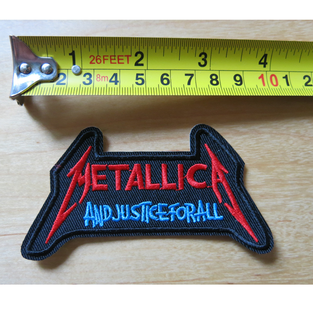 Metallica Patch And Justice For All Cloth Patch Iron On