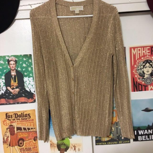 Micheal kors gold cardigan