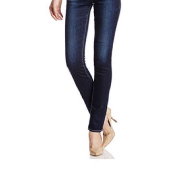 Moussy NYLON fit straight slim 0108AC12-5500 深藍修身窄牛窄褲 size25