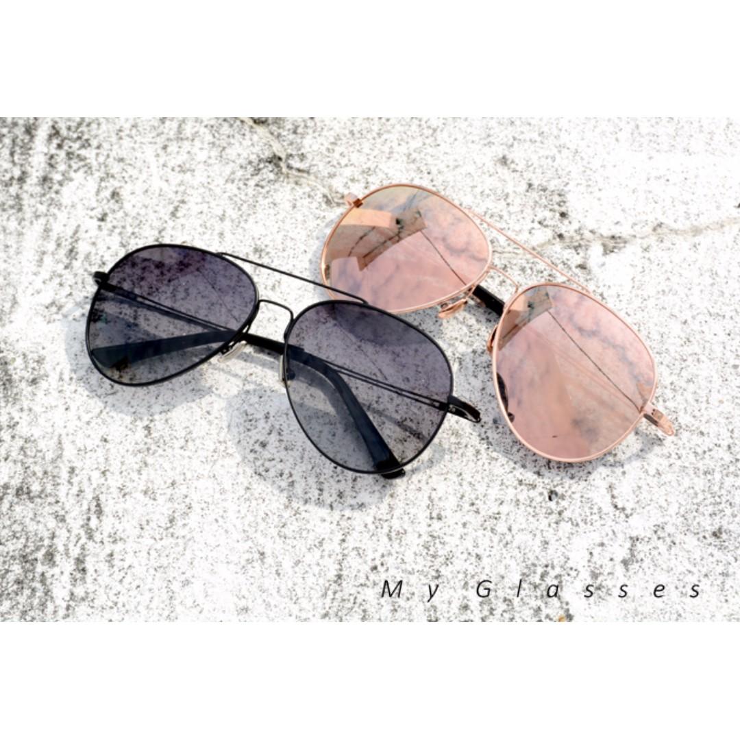 經典飛行員墨鏡-偏光太陽眼鏡-不鏽鋼鏡框-彈性-開車-騎車-Myglasses個人眼鏡