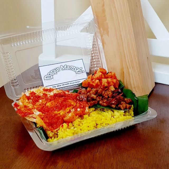 gambar nasi kuning telur vina gambar Resepi Tumpeng Nasi Kuning Enak dan Mudah