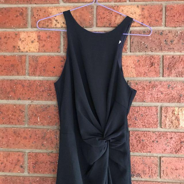 Navy twist front dress size 6-8