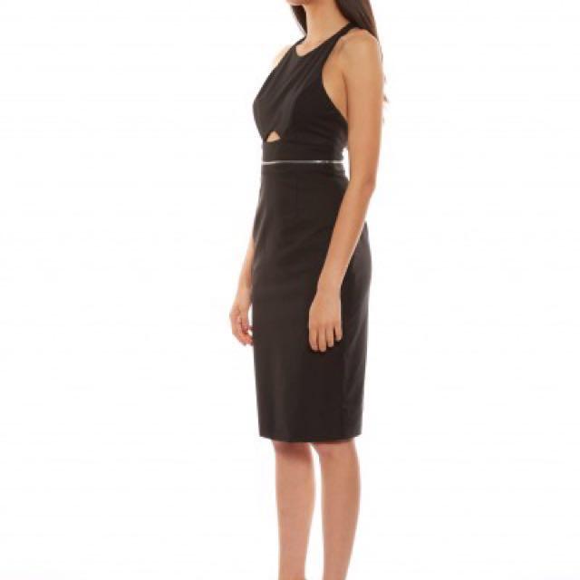 New Talulah Ava Black Cut Out Midi Dress