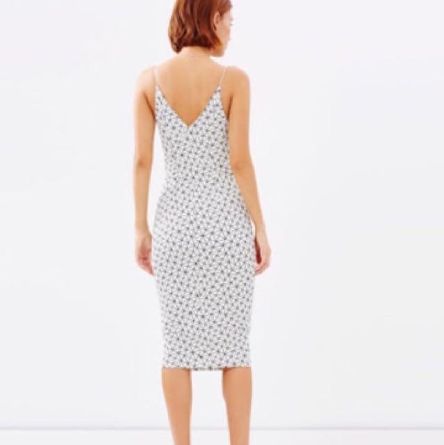 New Talulah Delirium Geometric Midi Dress