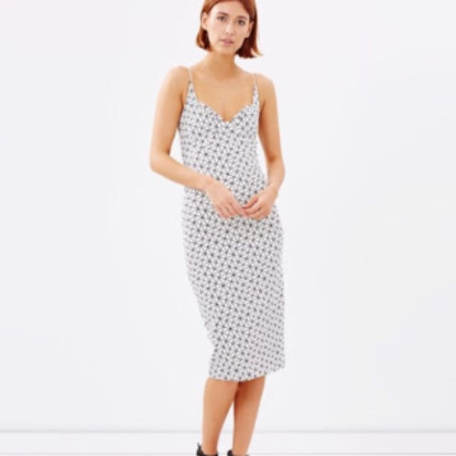 New Talulah Delirium Geometric Midi Dress
