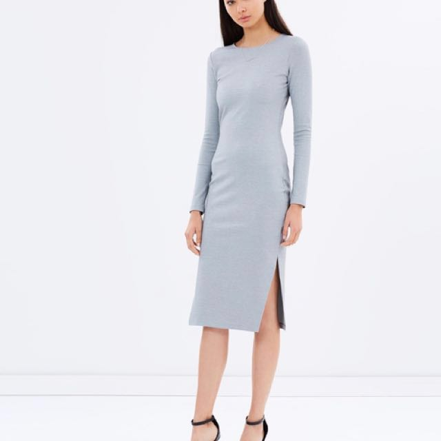New Talulah Dreamy Days Grey Midi Dress