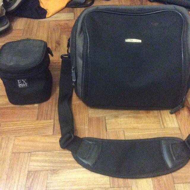 Nikon Camera Bag with Camera Lens Bag (original)