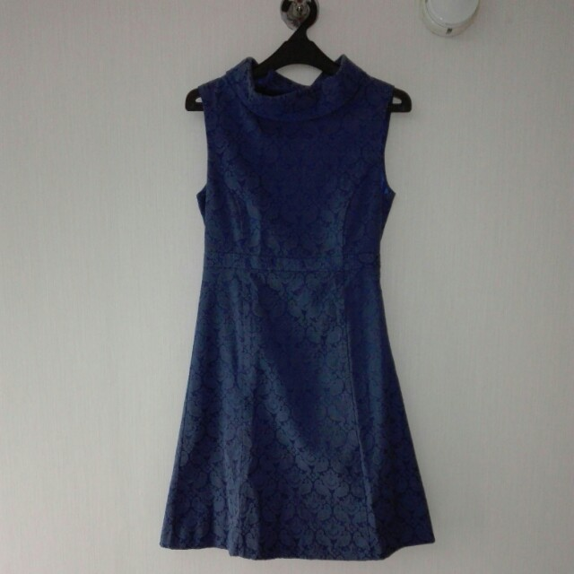 NYLA Navy Blue Turtleneck Dress. Size S