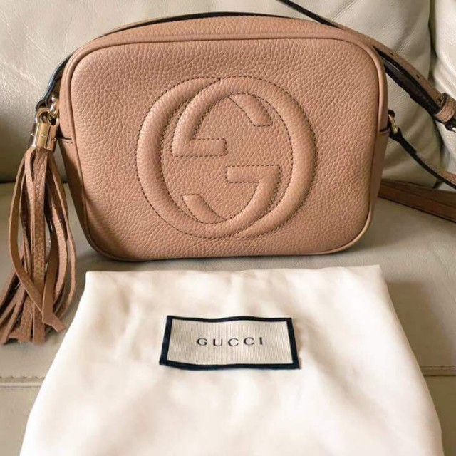 ce23af2eae6b ORIGINAL GUCCI Soho Disco Leather Bag (Nude color), Luxury, Bags & Wallets  on Carousell