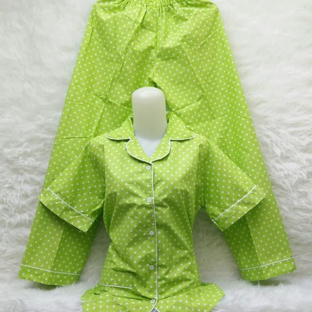 Piyama polka hijau