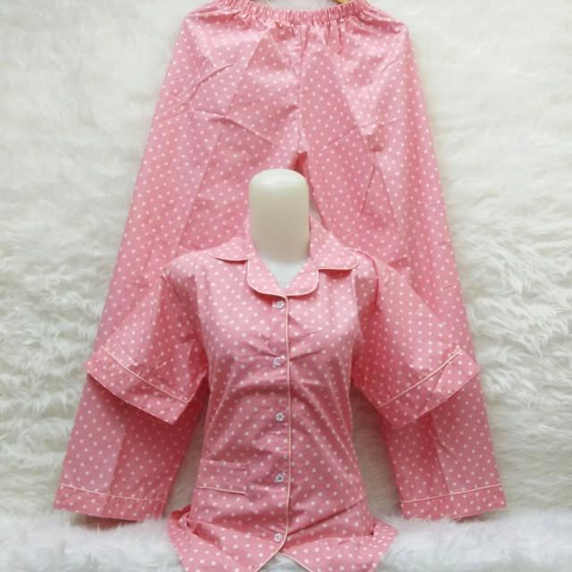 Piyama polka pink