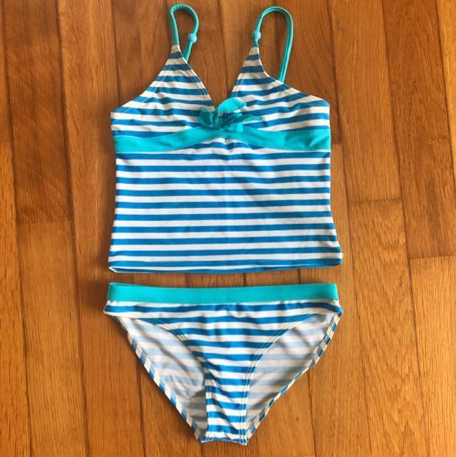 02fbd035929b7 Preloved 2 Pieces Girl's Swimming Costume, Babies & Kids, Girls ...