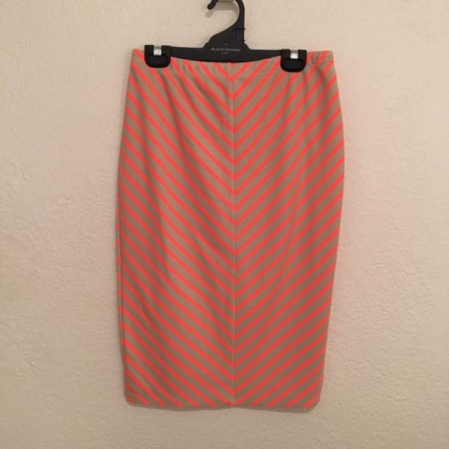 Printed Jersey Pencil Skirt