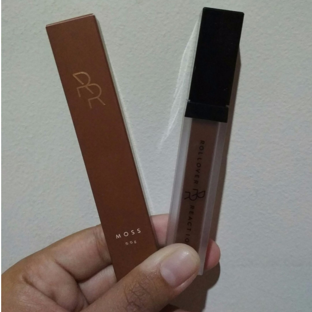 rollover reaction sueded cheek and lip cream shade moss