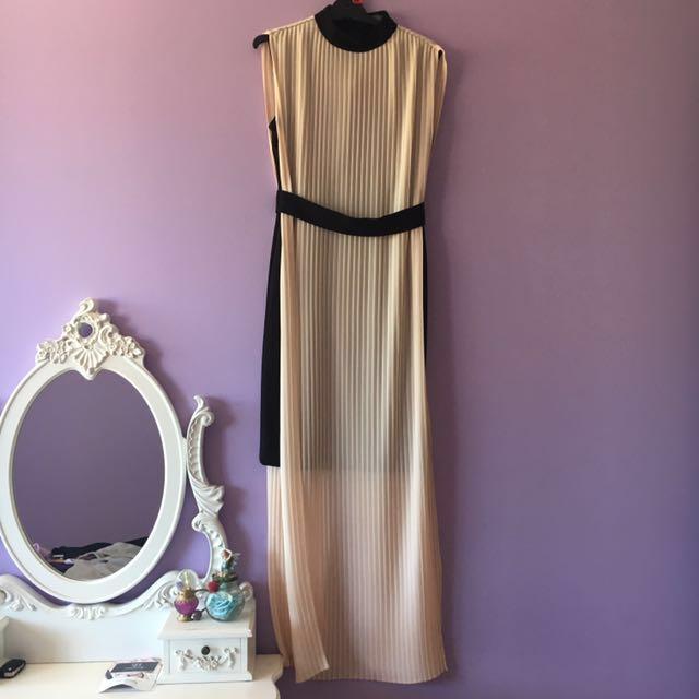 SHEIKE| Pink & Black Gladiator Dress