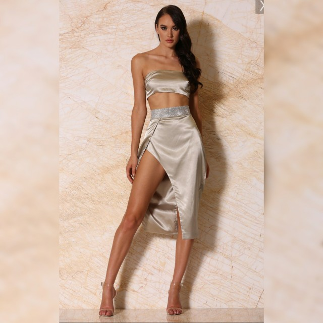 Silver Two Piece Outfit
