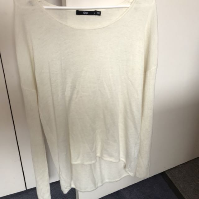 Sports girl White Knitted Jumper