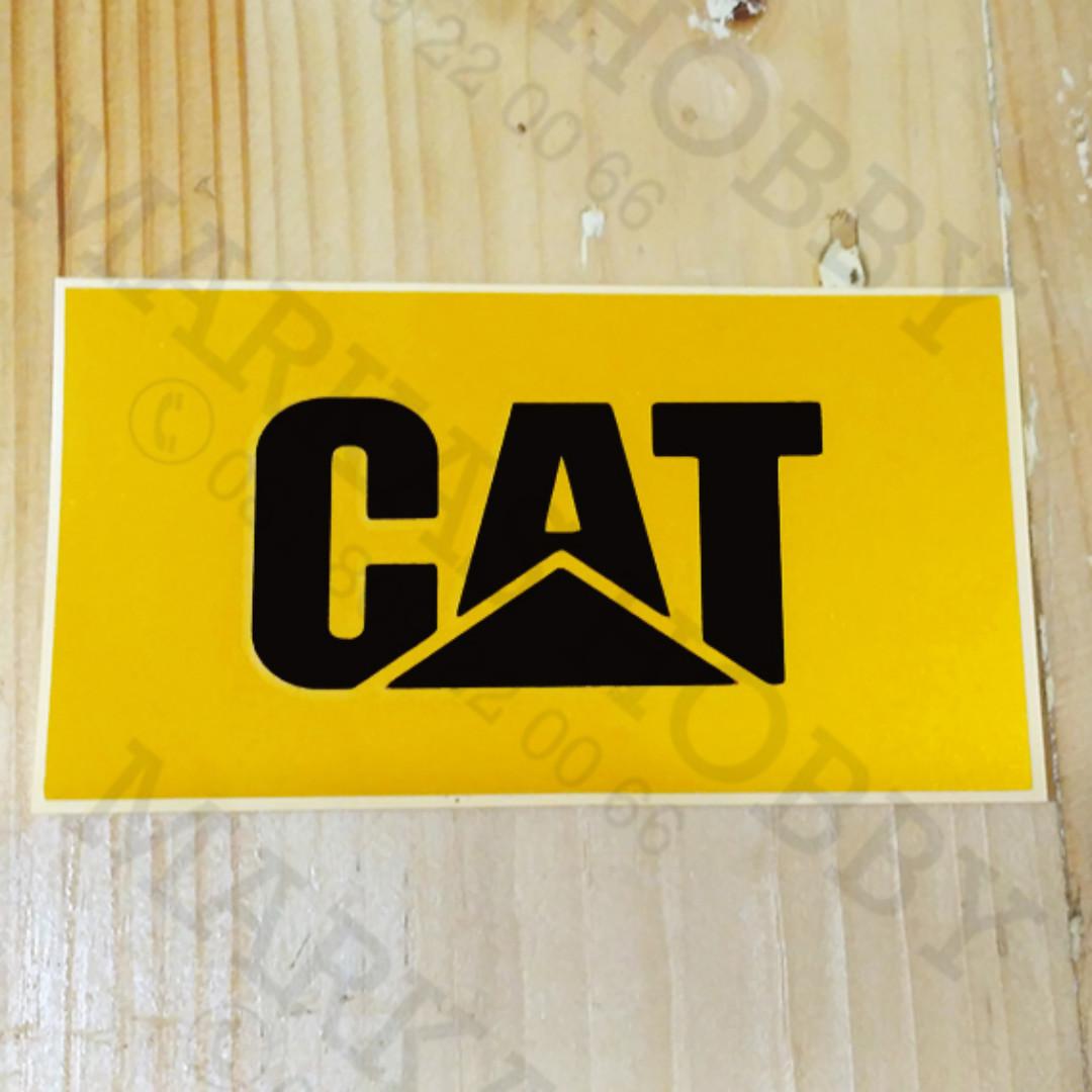 Stiker caterpillar yellow auto accessories on carousell