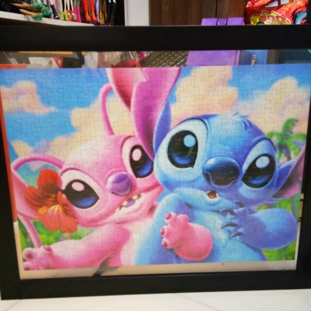 Stitch Puzzle Framed Glass Display